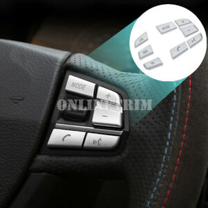7pcs Inner Steering Wheel Button Trim Cover For BMW X3 F25 (11-17)X4 F26(14-17)