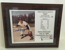 "Phil Rizzuto Yanks Yankees Autograph 1994 Framed Hall of Famer w/ COA 14""x11.5"""