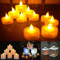 6pcs Candles Tealigh Flameless LED Bright Shining Flickering  Wedding  Battery