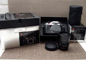"""Leica 10090 - Leica R9 anthrazit V-Elmar 35-70 E60 ROM """"Top Full-Set"""" - OVP!"""