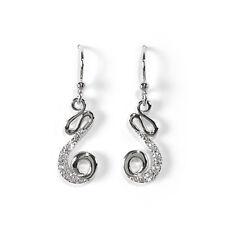 Jody Coyote Earrings JC0211 New GLX-0714-01 Silver Galaxy cz cubic zirconia