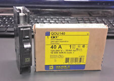 Square D QOU140 Single Pole 40 amp 120/240 VAC Circuit Breaker-New