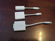Lot of 3 Apple Lightning Adapters RJ45 VGA DVI Network