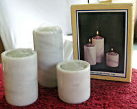 New Marble Candle Holder Trio Set Varying Heights Cylinder Shape Tealight Taper