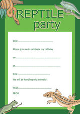 Childrens Birthday Invitations x 20 A5 with envelopes - Reptile Party