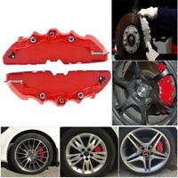 Auto Car Wheel Brake Caliper Cover Front Rear Decorative Anti-Dust Protector Red