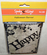 "HALLOWEEN Banner - 6 inches by 5 feet (6""x5') - Raven & Happy Halloween - NIP"