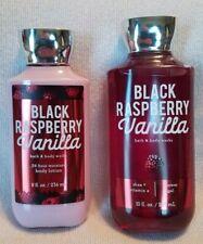 Bath & Body Works Black Raspberry Vanilla 2 pack shower gel & body lotion 10 oz.