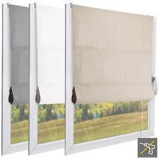 Raffrollo ohne Bohren Vorhang Raffgardine Fensterrollo Klemmfix Rollo Gardinen