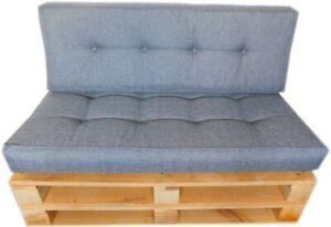 #Vision# Garden Cushions Seat Pads Pallet Bench Cushions LUX PU-FOAM 120x60cm HQ