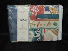 "Vintage 80s Dan River Bold Colorful Floral Drapes NIP Drapery Set 84 x 84"" Patio"