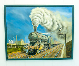 Joe Townend - Yorkshire Coal - Original Train Railway Oil Painting On Canvas