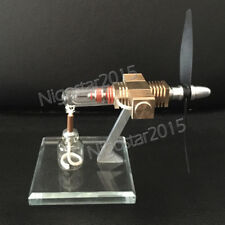 Hot Air Stirling Engine Motor Mini Aircraft Model Engine Airplane Propeller Toy