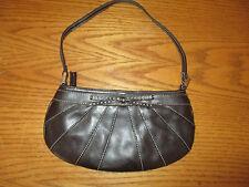 """Liz Claiborne small Brown baguette satchel handbag EUC 5-1/2"""" x 11"""""""