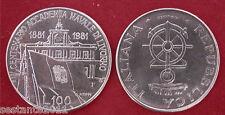 C37 ITALY  ITALIA 100 LIRE ACCADEMIA NAVALE LIVORNO 1981 KM 108 FDC UNC