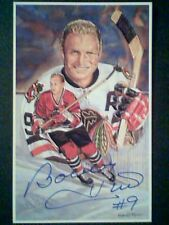 BOBBY HULL  AUTHENTIC HALL OF FAME LEGEND AUTOGRAPH