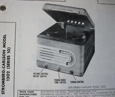 STROMBERG-CARLSON 1202 PHONOGRAPH RADIO PHOTOFACT