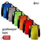 Goalkeeper top yellow green orange red blue grey boys mens womens soccer futsal