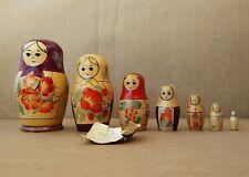 Vintage Russian Matryoshka Nesting Dolls. 7pcs. - w/ Paper Work Description
