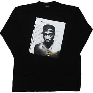 Mens Cross Colours Tupac Poet Hip Hop Royalty Long Sleeve T-Shirt Rap 2PAC Tee