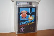 Stack-Up (Nintendo NES) NEW SEALED RARE BLACK BOX, HIGHEST GRADE, MINT VGA 85+!