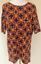 NEW LuLaRoe S Irma Top Blue Orange Boho Funky Tunic NWT LLR 8-10