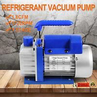 1.8CFM 1 Stage Refrigerant Vacuum Pump 220V Cast Aluminum Air Conditioning