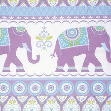 Dena Designs Sandara Oasis Kalindi Elephant Fabric in Orchid PWDF211 100% Cotton