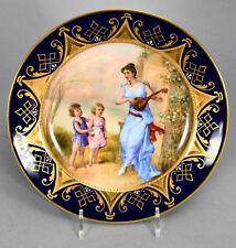 Antique Royal Vienna Hand Painted Plate - Classical Scene Duet signed W. PFOHL