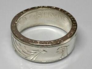 Münzring 5 DM Silberadler Heiermann Silber 625er Gr. 52 bis 72 Ring Mark poliert
