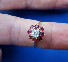 14k yellow gold ring with rubies