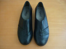 WOMEN'S GABOR COMFORT EASY WALKING BLACK LEATHER SHOES SIZE UK 4.5 G