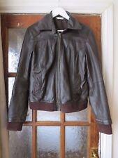 Dark brown leather jacket size 12