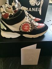 Chanel Multi Hightop Sneakers Trainers Size Uk 4 (fit a Uk 5) With Receipt