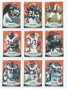 CINCINNATI BENGALS x 12 Fleer 1990 NFL American Football Trading Cards