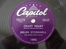 Helen O'Connell Crazy Heart / Any Time Capitol 1895 VG++