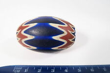 Alte Chevron Glasperle 6L 47mm XXL Big Star bead Old Venetian Trade bead Afrozip