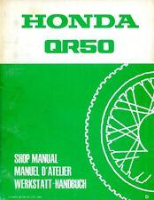 Honda QR50 QR 50 1982 Shop Manual