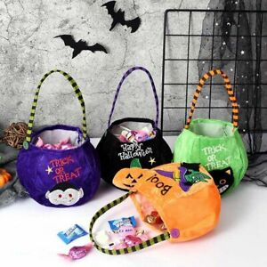 Party Halloween Kids Pumpkin Trick Or Treat Tote Bags Candy Bag Gift Basket