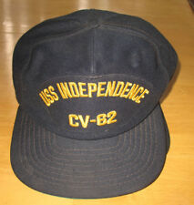 USS Independence CV-62 US Navy Military Blue Ball Cap Snapback Hat