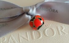 """Genuine Pandora """"Red Hot Hearts"""" Charm Silver Bead with Red Enamel (790436ER)"""