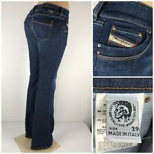 Diesel Ronhar Women 29 X 33 Jeans Made In Italy Cotton Blend Stretch Bootcut EUC