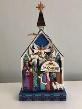 Jim Shore Heartwood Creek For Unto Us A Child Is Born Box Nativity Church 2014