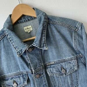 CK Calvin Klein Jeans Men's Denim Jacket Size L Light Blue Trucker Style