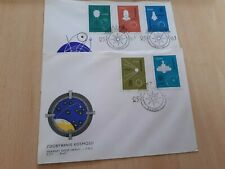 1963 POLAND CONQUEST OF SPACE  FIRST DAY COVERS(2)