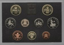 More details for 1989 proof coin collection red leather case | coin sets | pennies2pounds