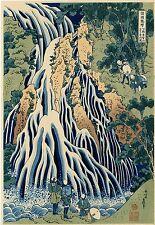 "Véritable Estampe Japonaise De Hokusai ""La Cascade De Kirifuri"""