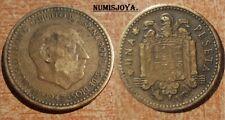FRANCO moneda de 1 Peseta año 1947*1956. FECHA RARA CIRCULADA. Peso 3,41 gr.