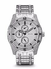 Bulova Men's Crystal Collection 96C106 Quartz Silver-Tone Bracelet 43mm Watch