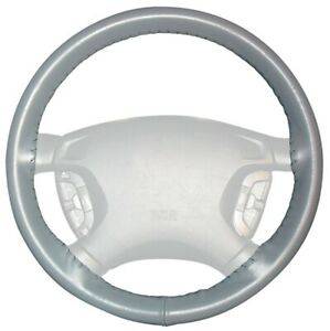 Wheelskins Gray Genuine Leather Steering Wheel Cover for Dodge